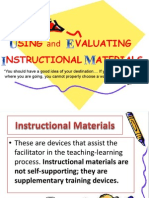 Using and Evaluating Instructional Materials