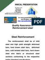 Quality Assurance in ReinforcementSteel