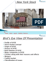 New York Stock Exchange and Capital Market
