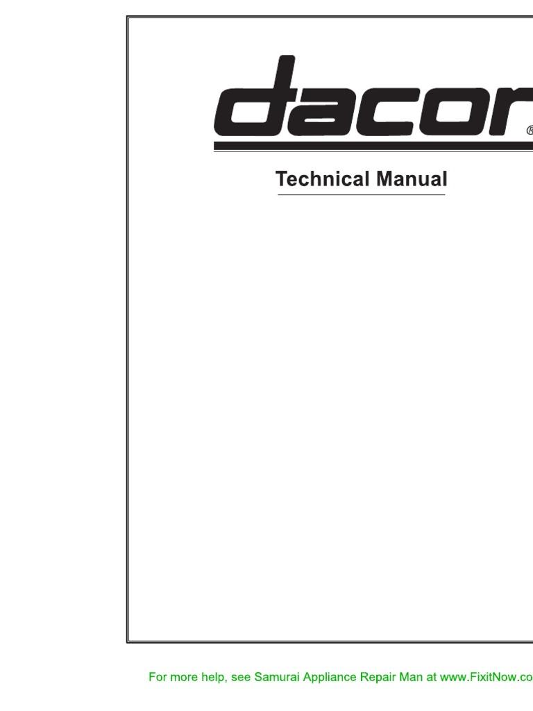 Dacor Technical Manual