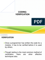 Software Engineering-Coding and Verification