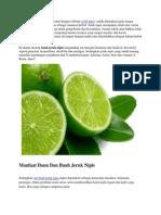 Citrus Aurantifolia Lebih Dikenal Dengan Sebutan Jeruk Nipis
