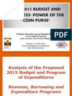 Analysis of the Proposed 2015 Budget and Program of Expenditures  Revenue, Borrowing and Expenditure Programs