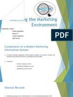 Scanning the Marketing Environment Chap 3