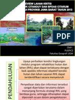 Paparan Lahan Kritis Provinsi Jawa Barat