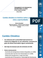Cambio Climático en América Latina y el Caribe
