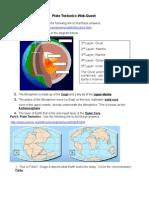 plate tectonics web quest student