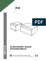 Uni-line, Customisation Manual 4189340135 UK