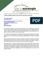 CULTURA ORGANIZACIONAL (Dos caras de un mismo servicio).doc