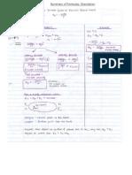 Summary of Formulas Gravitation
