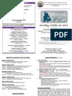MBC Bulletin - October 19, 2014