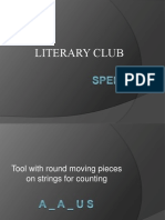 Quiz for Literary club (class 6 to 8)