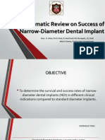 Systematic Review on Success Of Narrow Implants