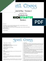 Spell Chess Print & Play - Kickstarter Edition