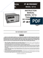 power supply 1671A Manual