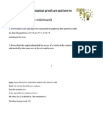 Introduction to mathematical proof for secondary school students