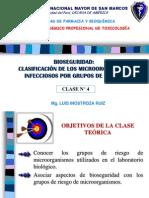 Clase 4 BIOSEGURIDAD Clasificación de microorganismos GR 2014-2.pdf