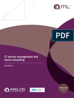 IT Service Management and Cloud Computing