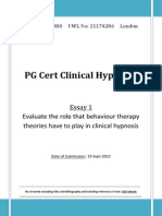 Behaviour Therapy and Clinical Hypnosis