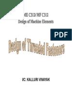 Design of threaded fasteners