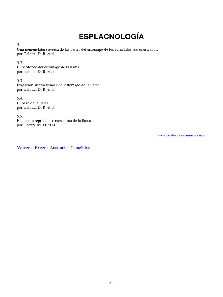 esplacnologia de la llama estomago, reproductor, bazo, higado.pdf