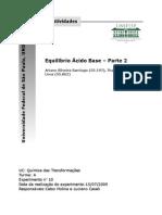 Relatório 10 - Equilíbrio Ácido Base - Parte 2 - 8,1.doc