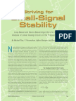 Small Signal Stability
