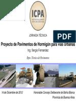 Proyecto de pavimentos urbanos de hormigón