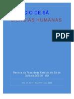 Revista Ciências Humanas 01