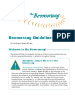 The Boomerang Guidelines 1112