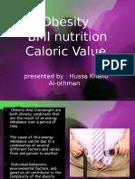 Obesity BMI Nutrition Caloric Value