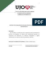 INSTRUCTIVO PARA PROYECTOS DE INVESTIGACION[1]. MODELO.doc