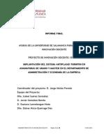 IMPLANTACIÓN DEL SISTEMA ANTIPLAGIO TURNITIN EN ASIGNATURA DE GRADO Y MASTER EN EL DEPARTAMENTO DE ADMINISTRACION Y ECONOMIA DE LA EMPRESA.doc