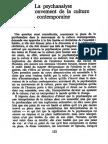 Ricoeur - La psychanalyse et le mouvement de la culture contemporaine (Le conflit des interprétations, Seuil, Paris, 1969).pdf