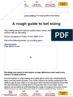 PKR _ a Rough Guide to Bet Sizing