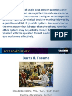 Burns and Trauma/CCM Board review