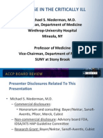 Antibiotics use in the ICU/CCM Board review