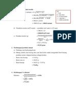 Perhitungan produksi teoritis