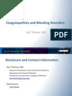 coagulopathies and bleeding Disorder