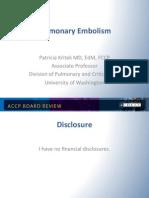 Pulmonary Embolism/CCM Board review
