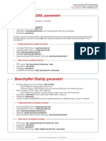 Parametri Za Povezivanje ADSL Beocity