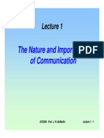 Lecture - Importance of Communication