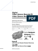 Sony Dcrtrv350 Handycam Manual
