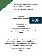 La Citadelle Du Musulman - Rappels Et Invocations Selon Le Coran Et La Sunnah