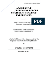 A NARRATIVE COMPREHENSIVE REPORT OF STUDENT TEACHING EXPERIENCES.docx