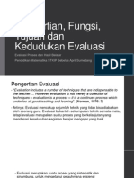 Pengertian, fungsi, tujuan, kedudukan evaluasi.pptx