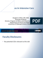 Ethics and end of life in ICU/CCM Board review