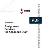 Assignment Services for Academic Staff 20091