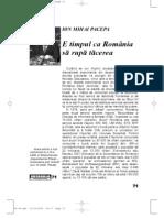 Articol despre Romania de astazi - al lui Pacepa?!...interesant