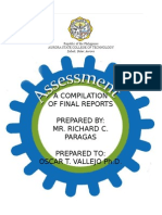 Compilation of Final Reports- Richard C. Paragas- BEED-IV